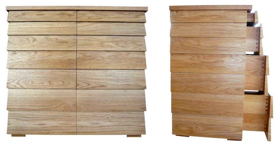 The Beehive unique chest of drawers in oak