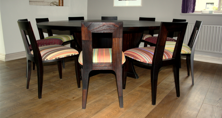 Chocolate wenge dining suite