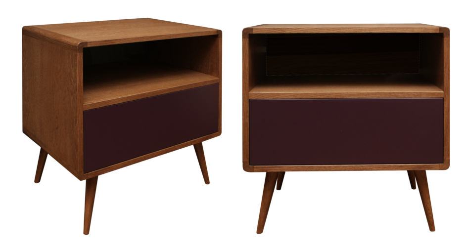 Pickled chesnut retro bedside table