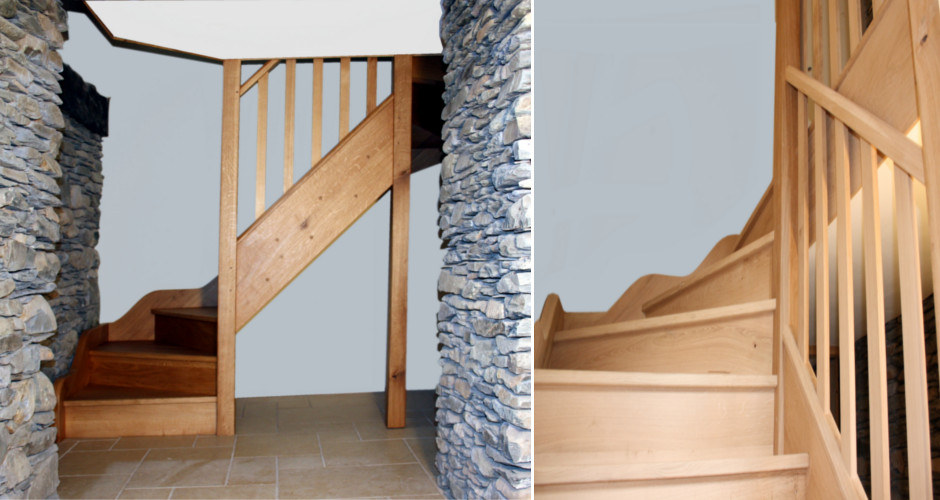 Quality hardwood staircase