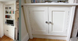 Alcove built-in painted cabinet