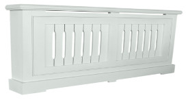Painted tulipwood radiator cover