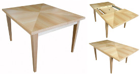 Maple extending dining table