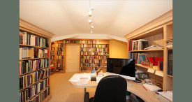 Bespoke library in limed oak