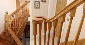 Hand made staircase in oak