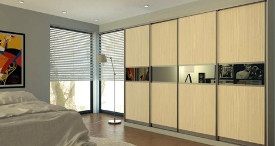 Contemporary sliding door wardrobe