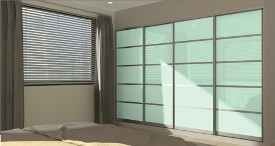 Executive sliding door wardrobe