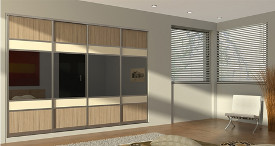 Modern sliding door wardrobe