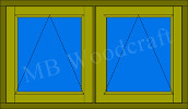 2G: two panes, both opening, Top hung